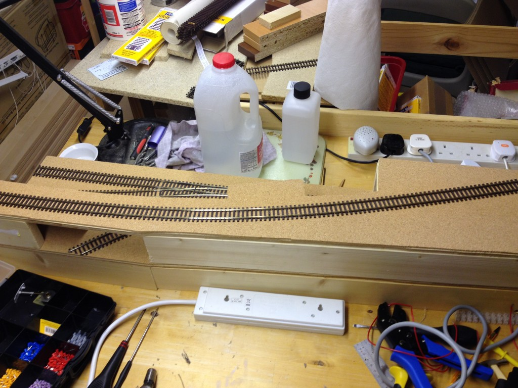 Top track in place and layout almost operational