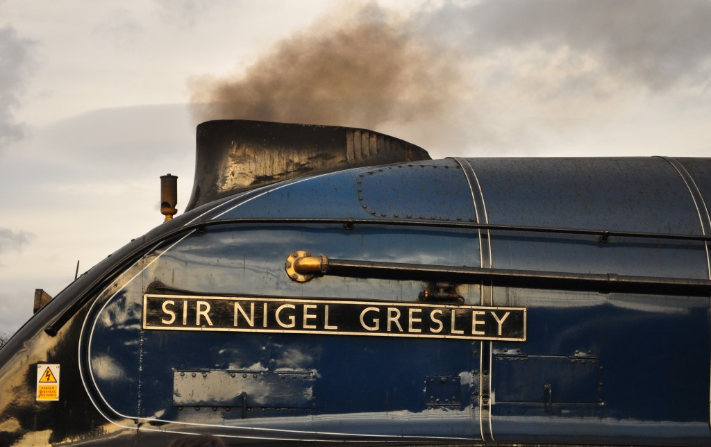 LNER A4 Sir Nigel Gresley in steam at the Great Goodbye